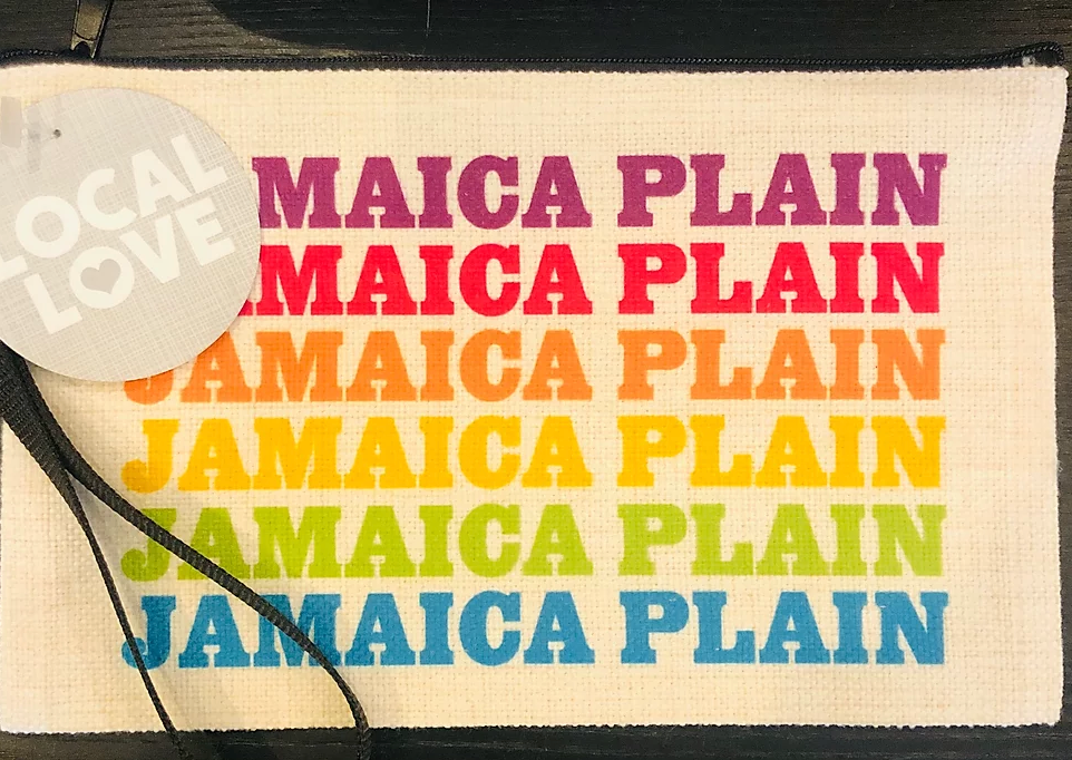 Rainbow Jamaica Plain Zipper Pouch