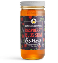 Load image into Gallery viewer, Bumbleberry Farms Artisanal Honey Raspbe