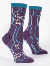 Load image into Gallery viewer, I Love My Job Crew Socks