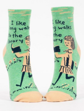 Load image into Gallery viewer, Long Walks Library Ankle Socks