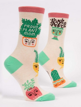 Load image into Gallery viewer, Proud Plant Mom Women's Crew Socks
