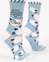 Load image into Gallery viewer, Loving Memory of Sleep Crew Socks