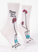 Load image into Gallery viewer, Take No Shit Women's Crew Socks