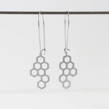 Load image into Gallery viewer, Honeycomb Earrings - Silver