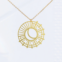 Load image into Gallery viewer, Sun and Moon Necklace