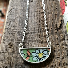Load image into Gallery viewer, Demi Crescent Botanical Necklace