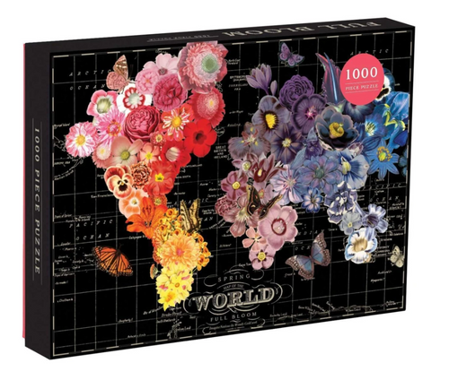 Full Bloom World Map Puzzle
