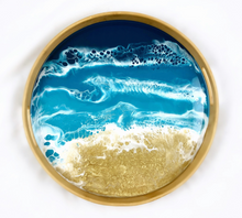 Load image into Gallery viewer, Ocean Vibes Resin Serving Tray