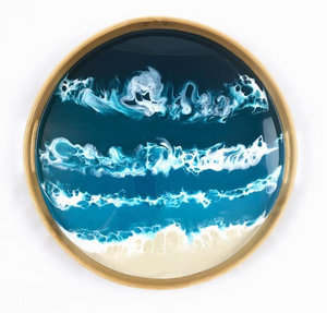 Ocean Vibes Resin Serving Tray
