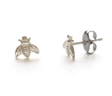 Load image into Gallery viewer, Sterling Silver Tiny Bee Posts