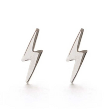 Load image into Gallery viewer, Lightning Bolt Studs Sterling Silver