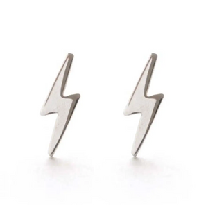 Lightning Bolt Studs Sterling Silver