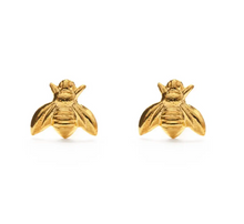 Load image into Gallery viewer, Gold Honey Bee Studs