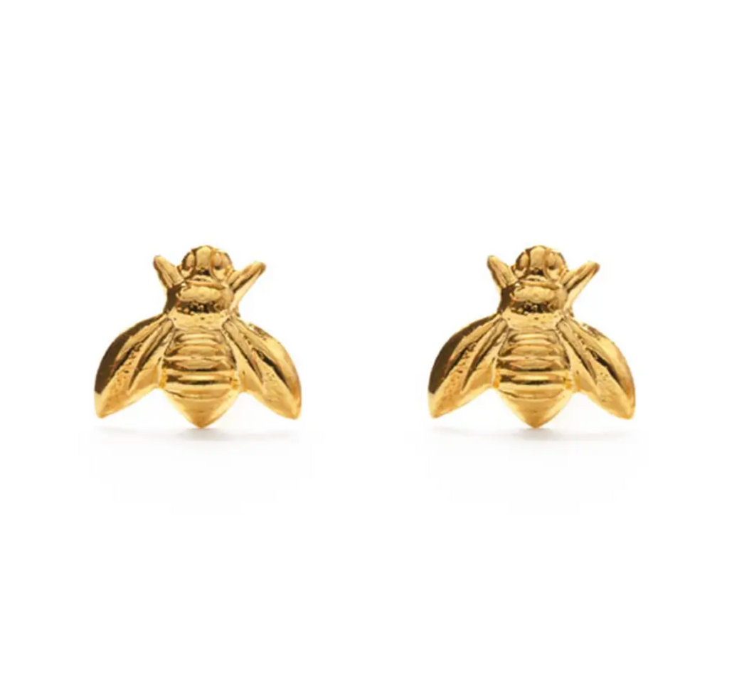 Gold Honey Bee Studs