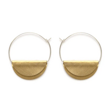 Load image into Gallery viewer, Hathor Hoops Petite SS Hoop w/ Brass