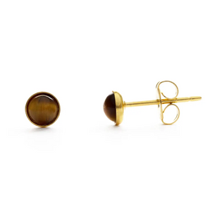4MM Studs Tiger's Eye