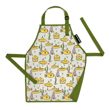 Load image into Gallery viewer, Kids Apron Yellow Submarine