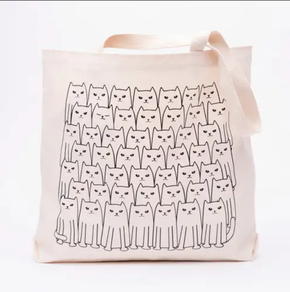 Cats On Cats Tote Bag