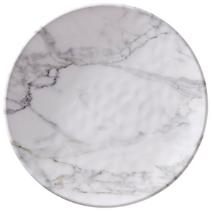 "White Marble 8"" Plate"