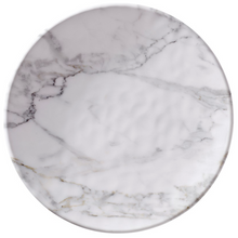 "Load image into Gallery viewer, White Marble 11"" Dinner Plate"