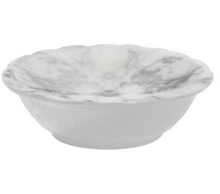 Load image into Gallery viewer, White Marble Melamine Sm Bowl Set of 4