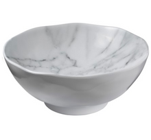 Load image into Gallery viewer, White Marble Melamine 8in Salad Bowl