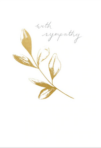 Gold Leaf Sympathy Card