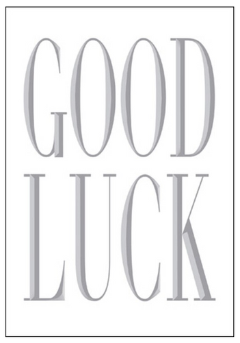 Silver Good Luck Card