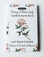 Load image into Gallery viewer, Dot & Lil Bath Milk Sachet Peony & Olive