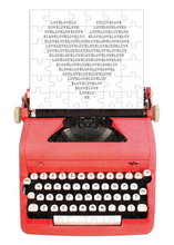 Load image into Gallery viewer, Mini Typewriter Heart Puzzle