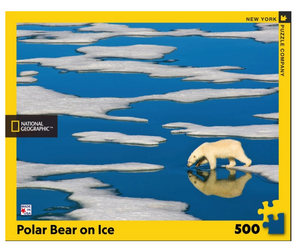 Polar Bear On Ice 500 pc Puzzle