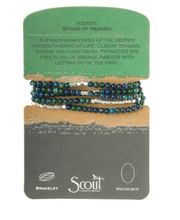 Load image into Gallery viewer, Scout Wrap Stone Bracelets Azurite