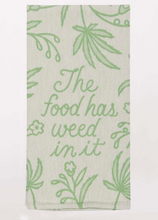 Load image into Gallery viewer, Blue Q Dish Towels $14 Food Has Weed