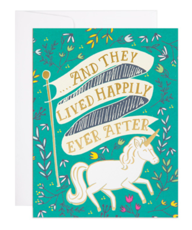 Happily Ever After Unicorn Card