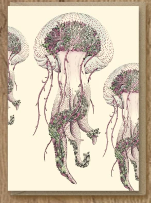 Mauve Jellyfish Card