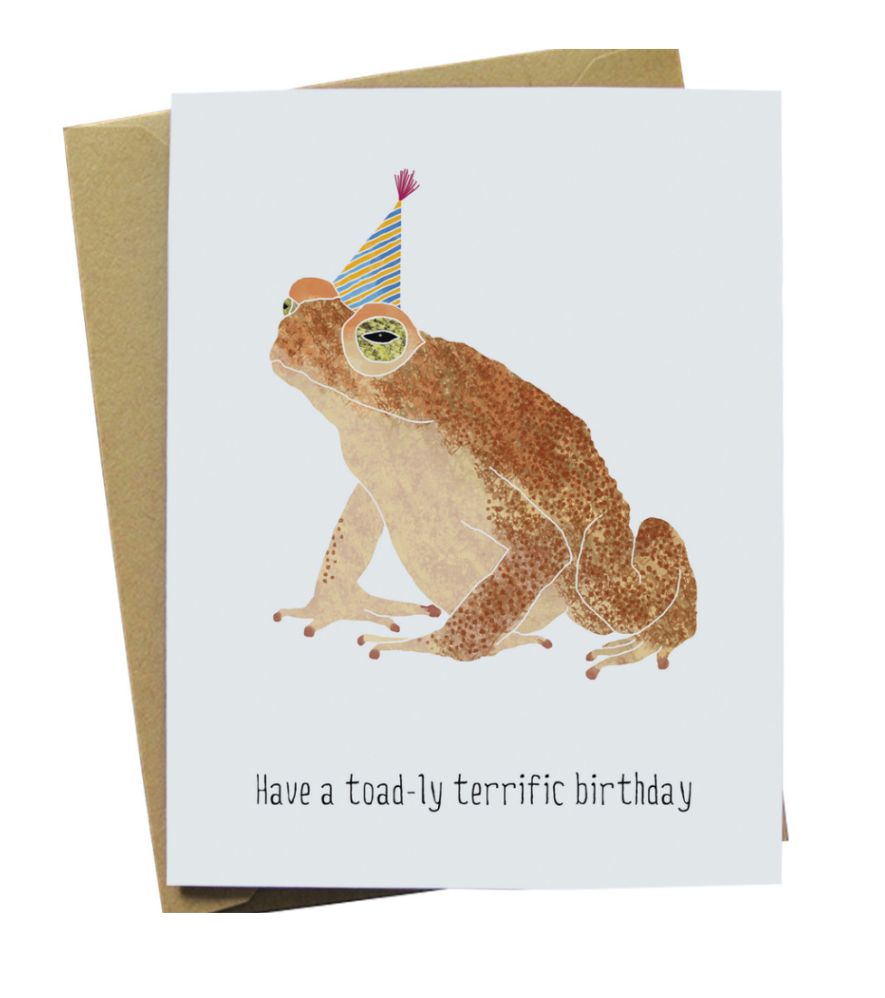 Toad-ly Terrific Birthday Card