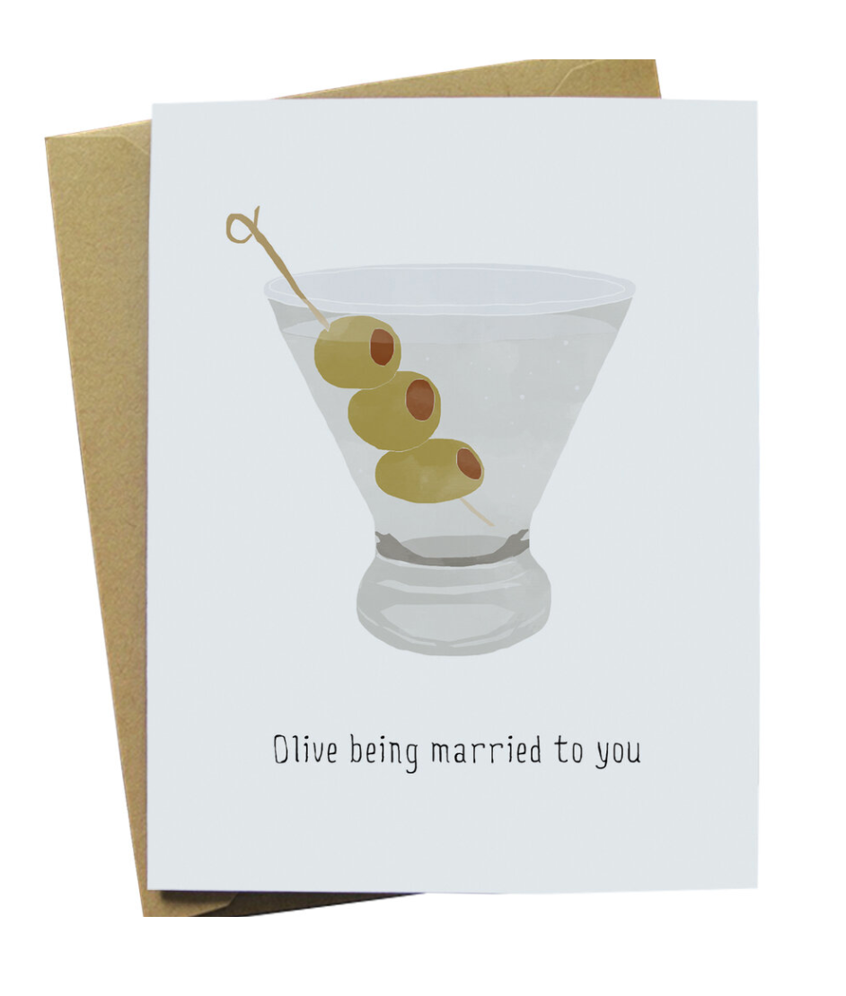 Olive Being Married - Card