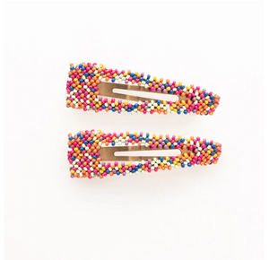 Confetti Beaded Hair Clip S/2