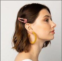 Load image into Gallery viewer, Confetti Beaded Hair Clip S/2