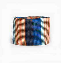Load image into Gallery viewer, Beaded Stretch Bracelet Lapis & Coral