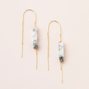Scout Rectangle Earrings Howlite