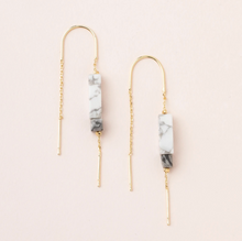 Load image into Gallery viewer, Scout Rectangle Earrings Howlite