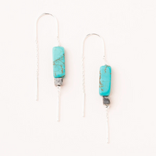 Load image into Gallery viewer, Scout Rectangle Earrings Turquoise