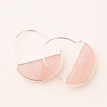 Load image into Gallery viewer, Scout Prism Earrings Rose Quartz