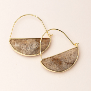 Scout Prism Earrings Fossil Coral