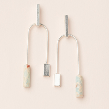 Load image into Gallery viewer, Scout Stone Balance Earrings Aqua Terra