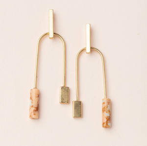Scout Stone Balance Earrings Pink Gold
