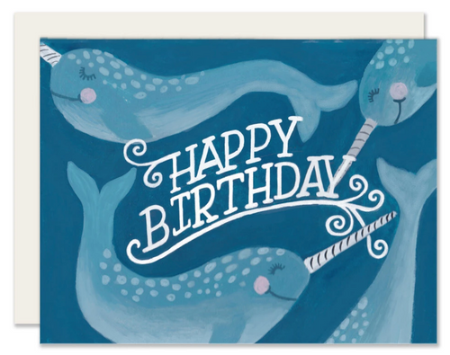 Narwhals Birthday Card