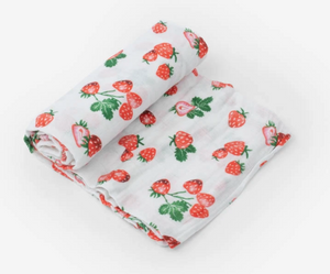 Strawberry Patch Cotton Muslin Single