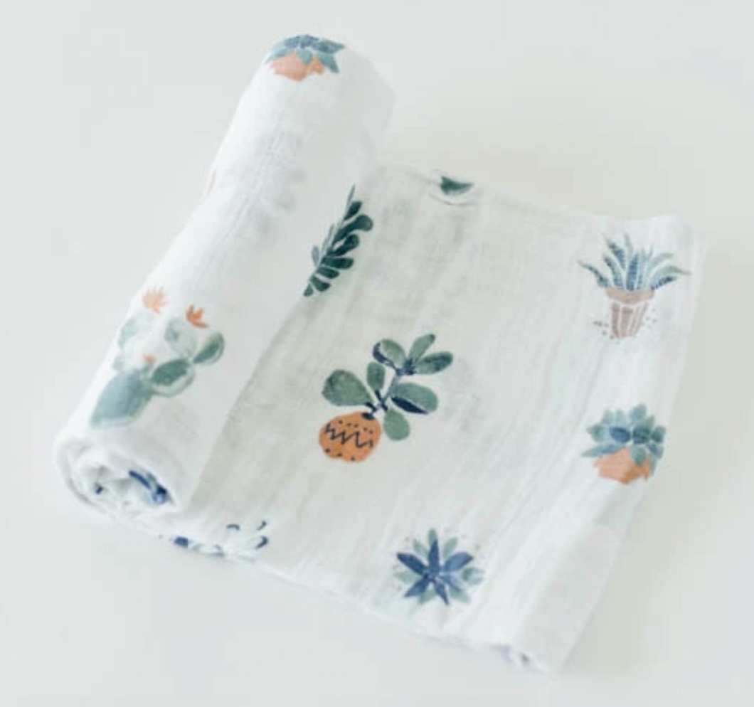 Prickle Pot Cotton Muslin Swaddle Single